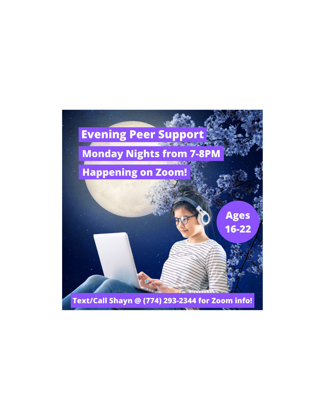 Evening Peer Support - Hosted by Zia Young Adult Access Center